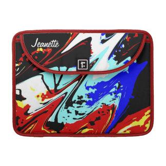 """Capa Para MacBook Pro Macbook pro 13"""" parte traseira abstrata colorida"""