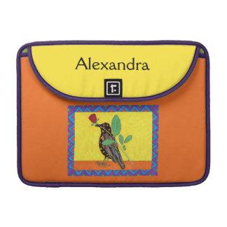 Capa Para MacBook Pro Nome mexicano do costume da arte do corvo & da