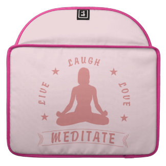 Capa Para MacBook Pro O amor vivo do riso Meditate texto fêmea (o rosa)