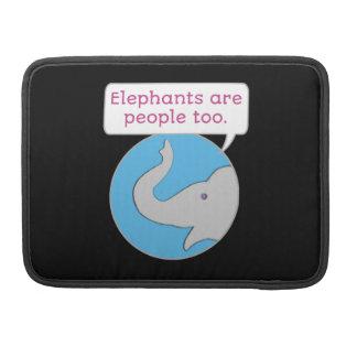 Capa Para MacBook Pro Os elefantes são pessoas demasiado