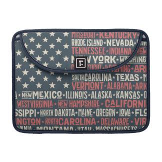 Capa Para MacBook Pro Os Estados Unidos da América  States & capitais