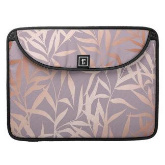 Capa Para MacBook Pro ouro cor-de-rosa, asiático, folha, teste padrão,
