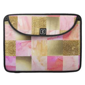 Capa Para MacBook Pro ouro, pastels, cores de água, quadrados, colagem,