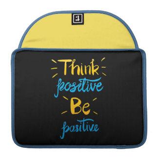 Capa Para MacBook Pro Pense que o positivo seja pro luva positiva de