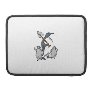Capa Para MacBook Pro Pinguim que guardara a pá com tiragem dos