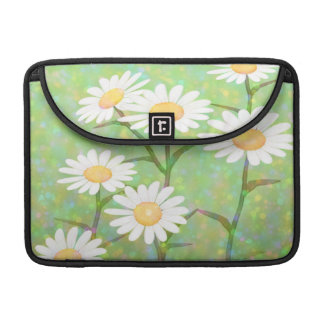 Capa Para MacBook Pro Pontos de Bokeh das margaridas do jardim