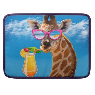Capa Para MacBook Pro Praia do girafa - girafa engraçado