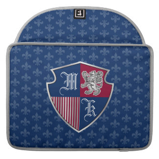 Capa Para MacBook Pro Protetor de prata do emblema do monograma da