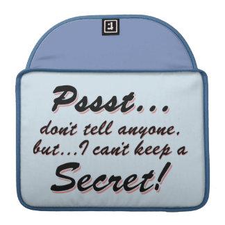 Capa Para MacBook Pro Pssst… eu não posso manter um SECRETO (o preto)