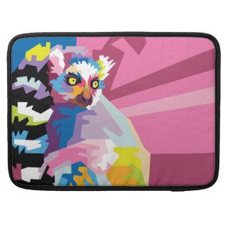 Capa Para MacBook Pro Retrato colorido do Lemur do pop art