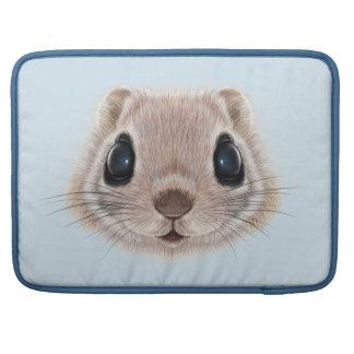 Capa Para MacBook Pro Retrato ilustrado do esquilo de vôo