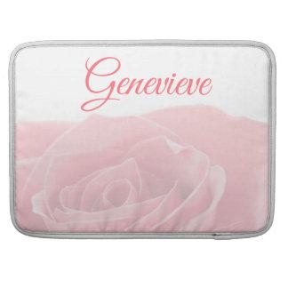 Capa Para MacBook Pro Rosa bonito do rosa personalizado com luva