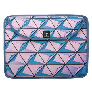 Capa Para MacBook Pro Rosa e teste padrão geométrico azul