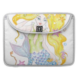 Capa Para MacBook Pro Sereia loura bonito