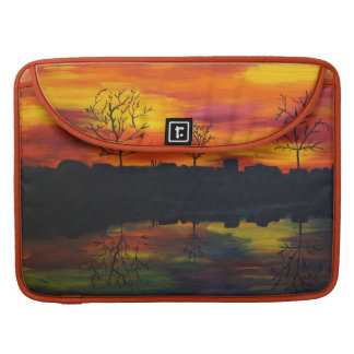 Capa Para MacBook Pro Sunset at river