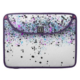 Capa Para MacBook Pro Teste padrão do Splatter - luz com azul e rosa