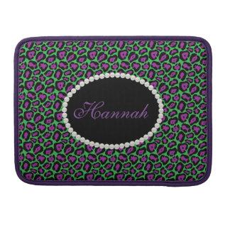 Capa Para MacBook Pro Verde chique & monograma Macbook do impressão do