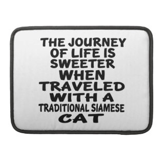 Capa Para MacBook Pro Viajado com o gato Siamese tradicional