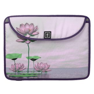 Capa Para MacBook Pro Waterlilies e flores de lótus cor-de-rosa - 3D