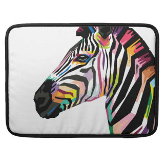 Capa Para MacBook Pro Zebra colorida do pop art no fundo branco
