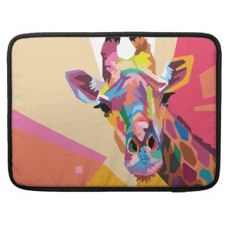 Capa Para MacBook Retrato colorido do girafa do pop art