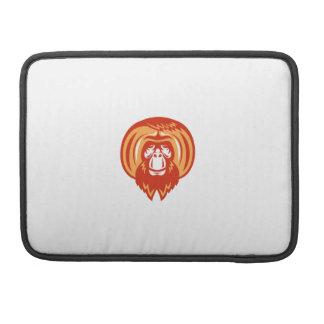 Capa Para MacBook Retro dianteiro farpado do orangotango