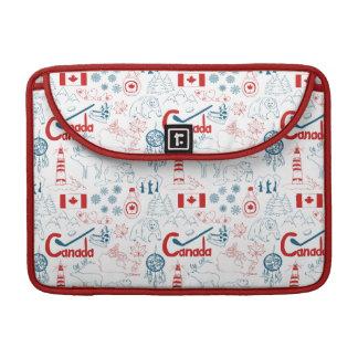 Capa Para MacBook Teste padrão dos símbolos de Canadá |