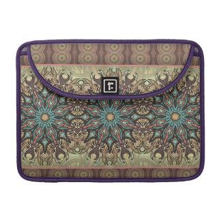 Capa Para MacBook Teste padrão floral étnico abstrato colorido da