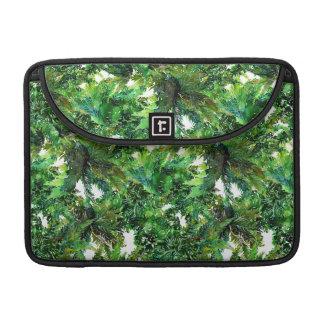 Capa Para MacBook Teste padrão verde da queda da floresta da
