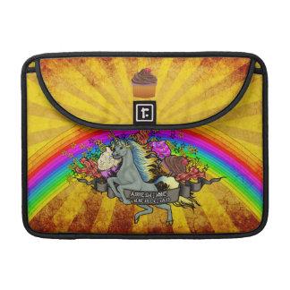 Capa Para MacBook Unicórnio, arco-íris & bacon impressionantes da