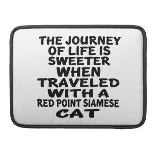 Capa Para MacBook Viajado com o gato siamese do ponto vermelho