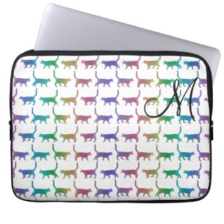 Capa Para Notebook A bolsa de laptop animal do teste padrão dos gatos