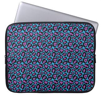 Capa Para Notebook A bolsa de laptop azul & cor-de-rosa chique do
