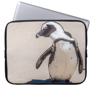 Capa Para Notebook A bolsa de laptop brincalhão do pinguim