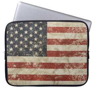 Capa Para Notebook A bolsa de laptop com a bandeira do vintage dos
