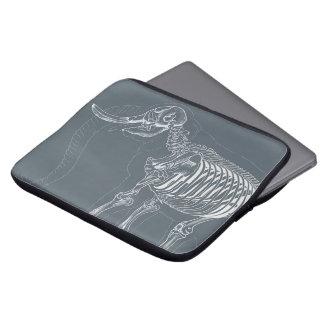 Capa Para Notebook A bolsa de laptop com design de esqueleto do