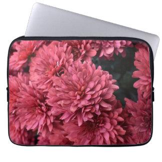 Capa Para Notebook a bolsa de laptop cor-de-rosa da flor