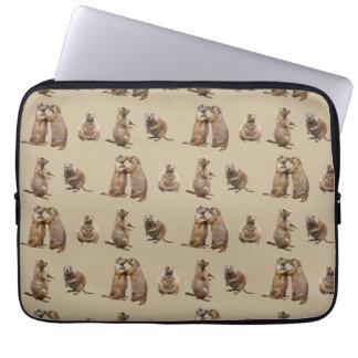 Capa Para Notebook A bolsa de laptop da agitação do cão de pradaria