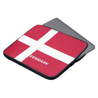 Capa Para Notebook A bolsa de laptop da bandeira de Dinamarca
