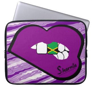 Capa Para Notebook A bolsa de laptop de Jamaica dos lábios de Sharnia