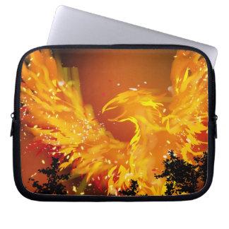 Capa Para Notebook A bolsa de laptop de Phoenix em vôo