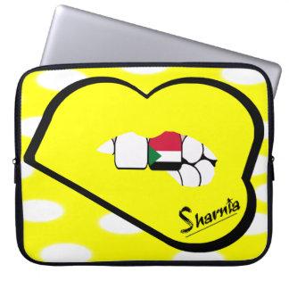 Capa Para Notebook A bolsa de laptop de Sudão dos lábios de Sharnia