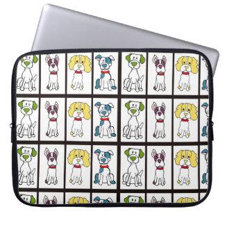 Capa Para Notebook A bolsa de laptop do cão da vira-lata