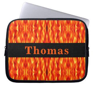 Capa Para Notebook A bolsa de laptop do fogo do abstrato da laranja