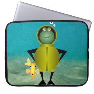 Capa Para Notebook A bolsa de laptop do homem-rã