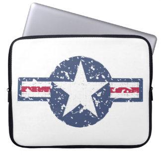 Capa Para Notebook A bolsa de laptop do logotipo da força aérea