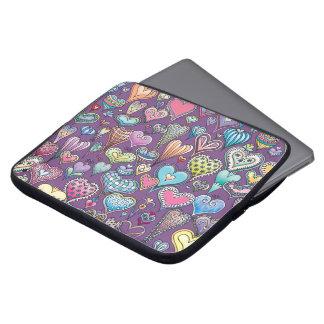 Capa Para Notebook A bolsa de laptop do neopreno do Coração-Teste