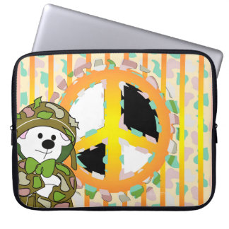 Capa Para Notebook A bolsa de laptop do neopreno do SOLDADO do URSO