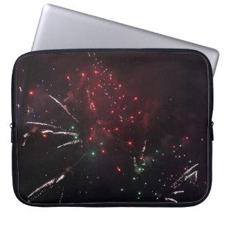 Capa Para Notebook A bolsa de laptop dos fogos-de-artifício