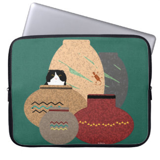 Capa Para Notebook A bolsa de laptop dos potes de argila